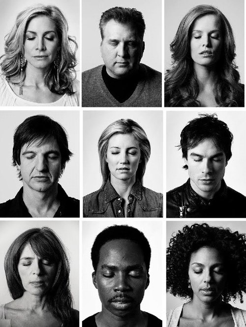 Pictures of the characters that died on LOST.... it's the ones you actually see dying in the show itself.