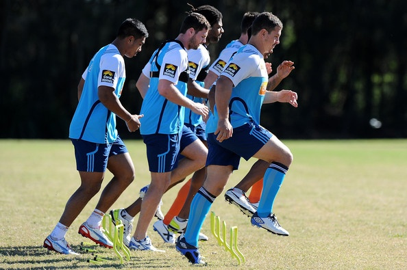 Titans players complete drills during a Gold Coast Titans NRL training session at Station Reserve on May 23, 2013 on the Gold Coast, Australia.