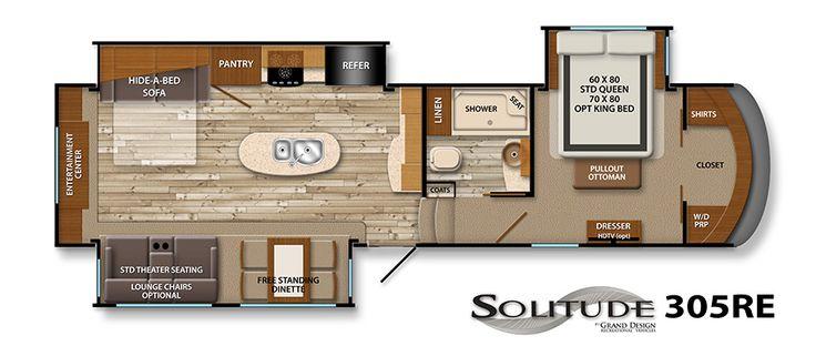 1000 images about rv retirement on pinterest cincinnati - Grand design solitude floor plans ...