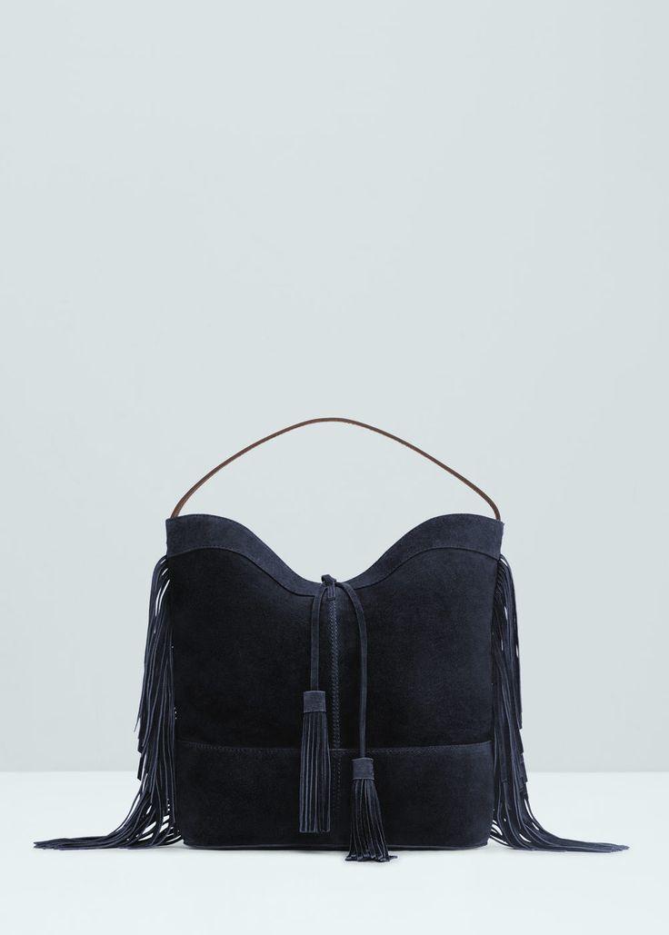 Leather hobo bag | MANGO