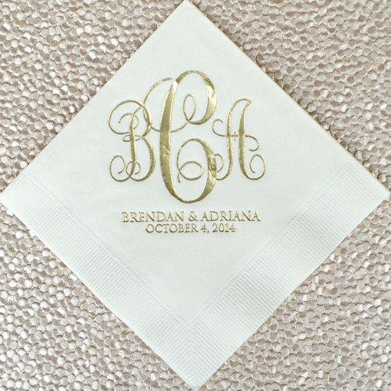 Best 25 wedding cocktail napkins ideas on pinterest for Printed wedding napkins