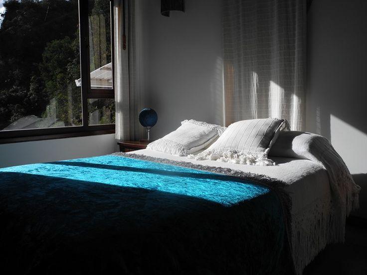 Un claro atardecer en medio de relax y descanso