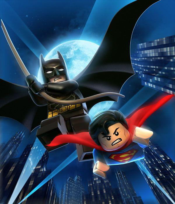 Campanha publicitária da Lego traz como personagens principais super heróis como Batman e super homem.