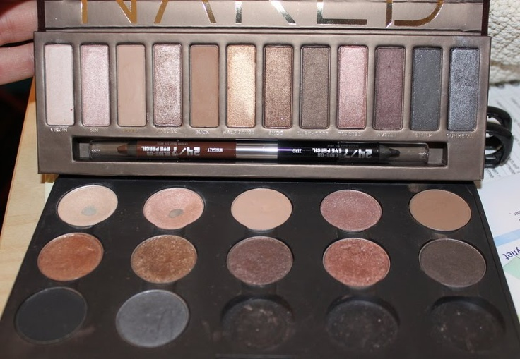 "Urban Decay ""Naked"" Palette - Mac dupes: Brule, Woodwinked, Vanilla, Mythology, Quarry,"