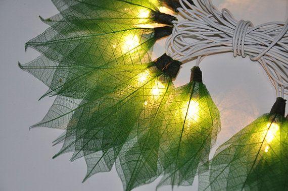 Fiori verde coltellese luci per la festa e decorazione (20 lampadine) della stringa