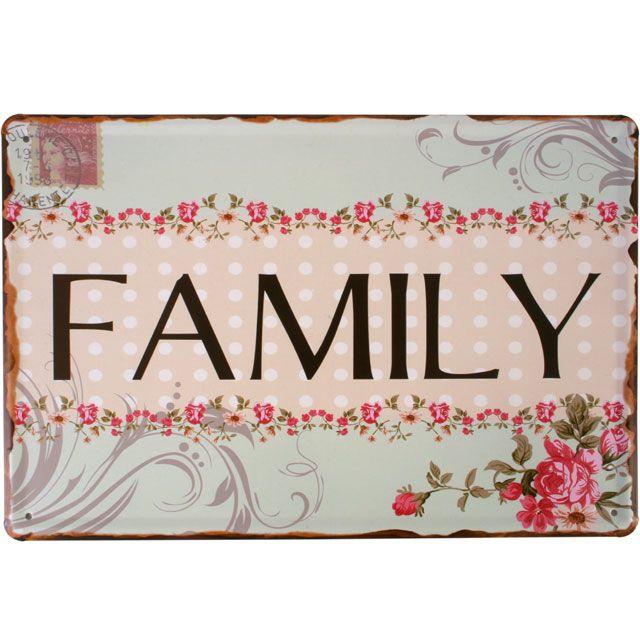 Family Metal Plaque £3.99