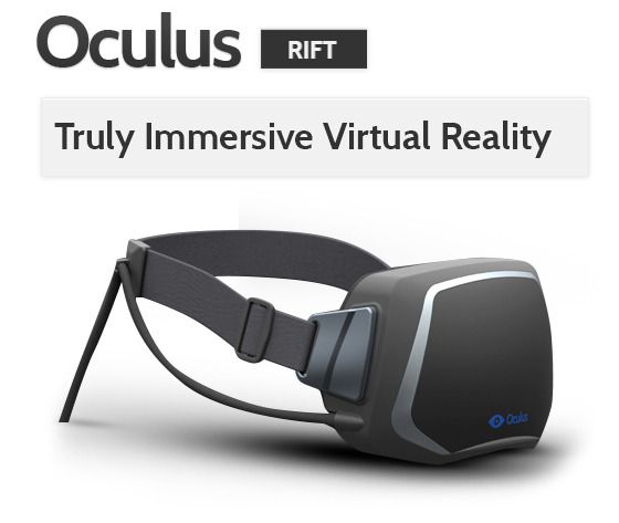 The Oculus Rift VR headset makes the wearer feel literally living in a video game