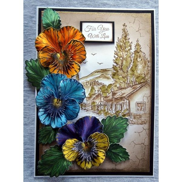 Sheena Douglass Perfect Partners Victorian Floral Pansy Die