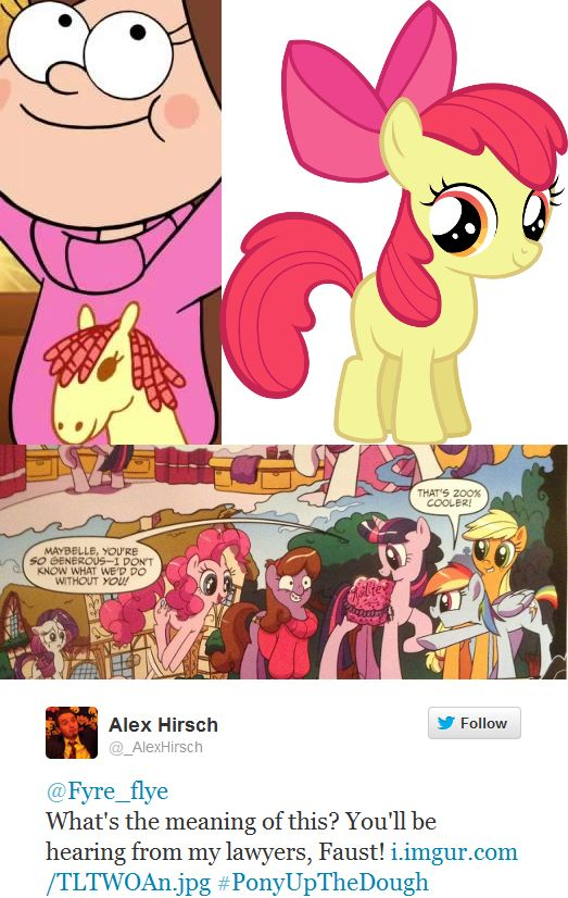 I remember reading that mlp comic and seeing that sweater and shouting MABEL!