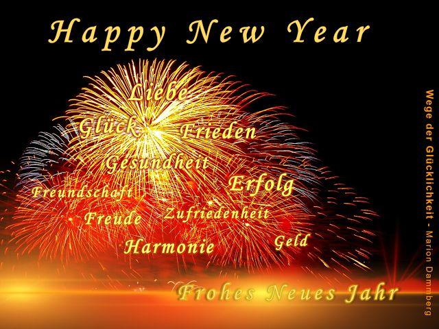 Rezept für das neue Jahr.  Happy New Year.  Einen guten Rutsch und ein frohes glückliches Neues Jahr,