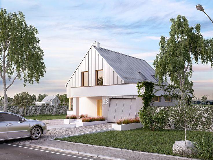Projekt domu Antara (116,38 m2). Pełna prezentacja projektu dostępna jest na stronie: https://www.domywstylu.pl/projekt-domu-antara.php #projekty #projekt #domy #dom #projektdomu #projektydomow #domywstylu #mtmstyl #antara #projektygotowe #design #homedesign #architektura #architecture #moderndesign