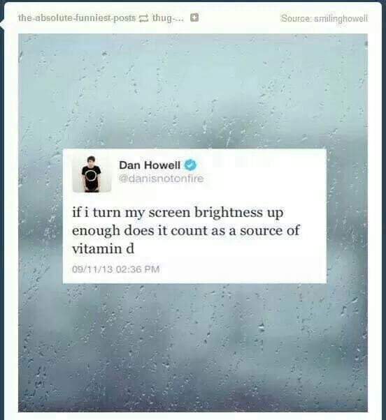 Dan is asking the real life questions here people... I hope it does cuz going outside means I have to socialise lol!!!