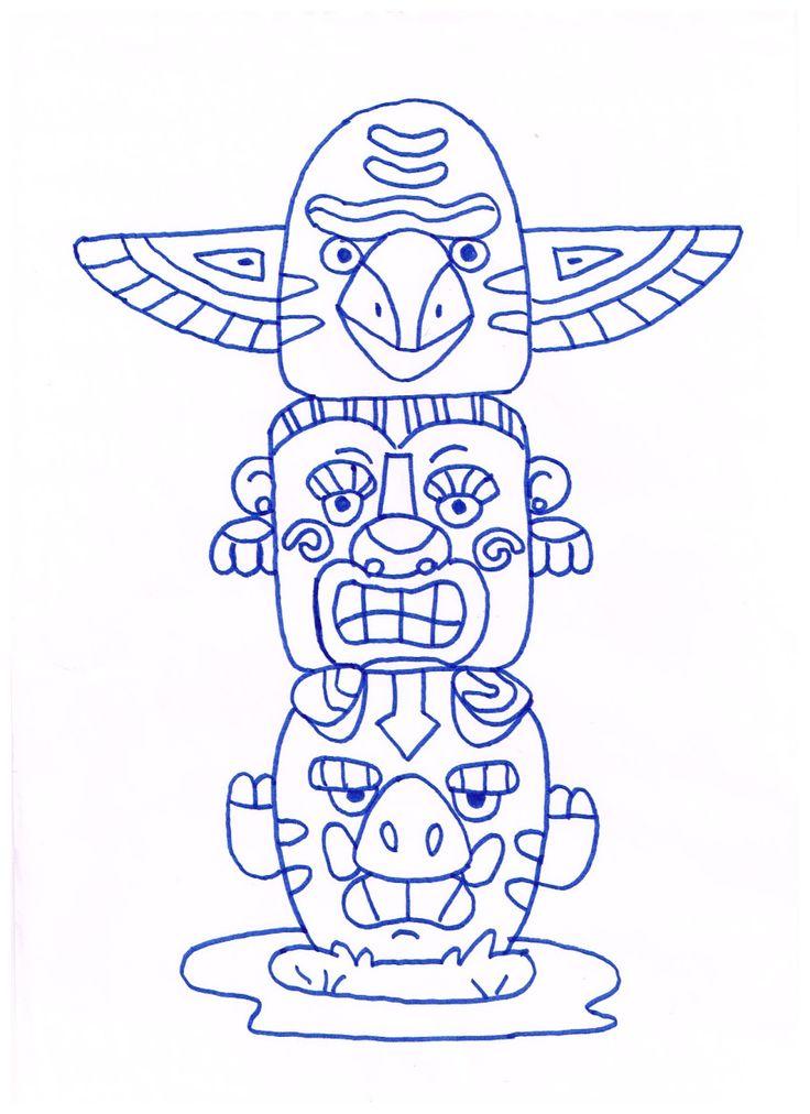 Dorable Tótem Hawaiano Para Colorear Galería - Dibujos Para Colorear ...