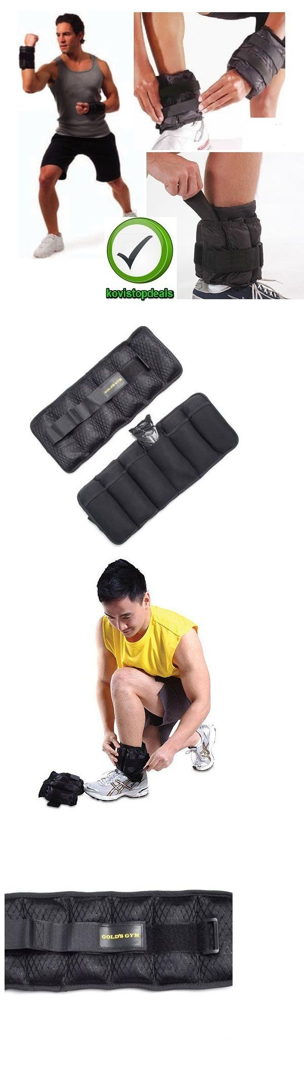 Wrist and Ankle Weights 137866: Golds Gym Ankle Weights Adjustable And Arm Leg Wrist Box Running Pair Of 10 Lb BUY IT NOW ONLY: $32.67