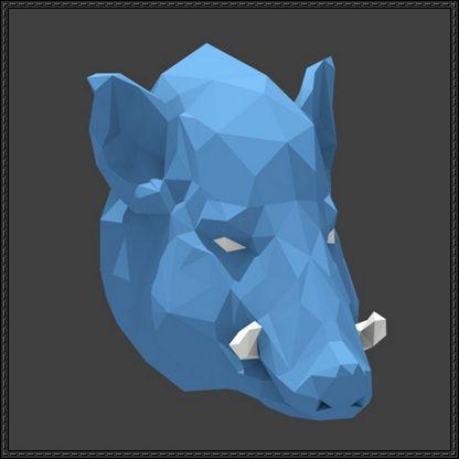 Wild Boar Head Free Papercraft Download