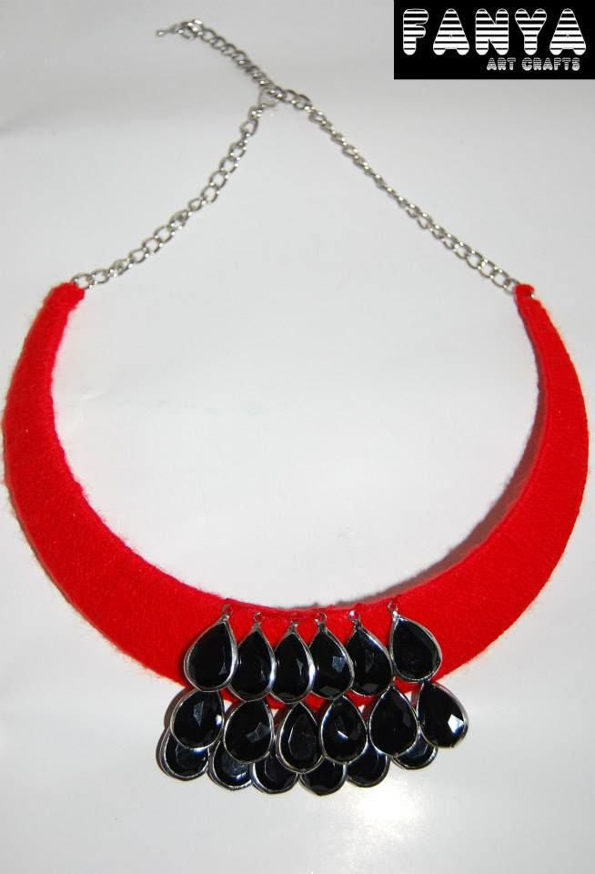"Statement necklace ""Teardrops"""