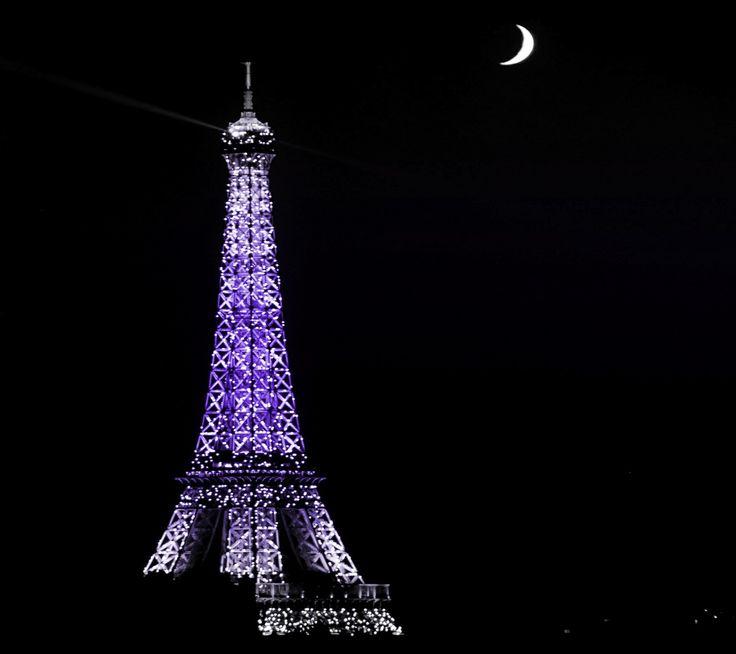Eiffel tower purple
