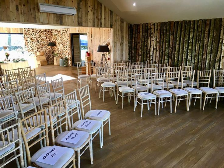 Indoor ceremony room
