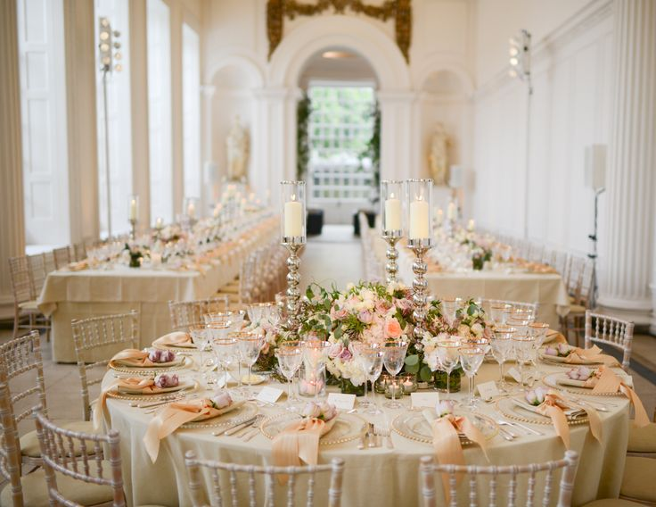 A beautiful wedding venue, The Orangery at Kensington Palace, London the former home of the late Princess Diana, gorgeous!