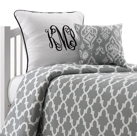 Merveilleux Cool Grey Quatrefoil Dorm Bedding American Made Dorm Home. Beautiful  College Bedding Made In America. We Also Have Accent Pillows And Euro Shams  To Match!