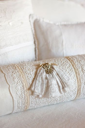 Lace Bolster Pillow~❥