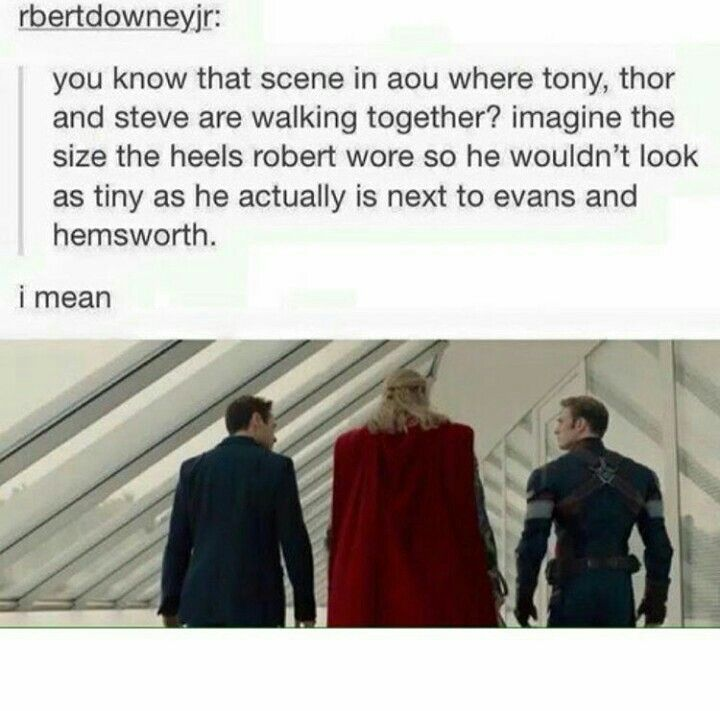 okay but what did they have to do to make Chris Evens look so small compared to Thor?