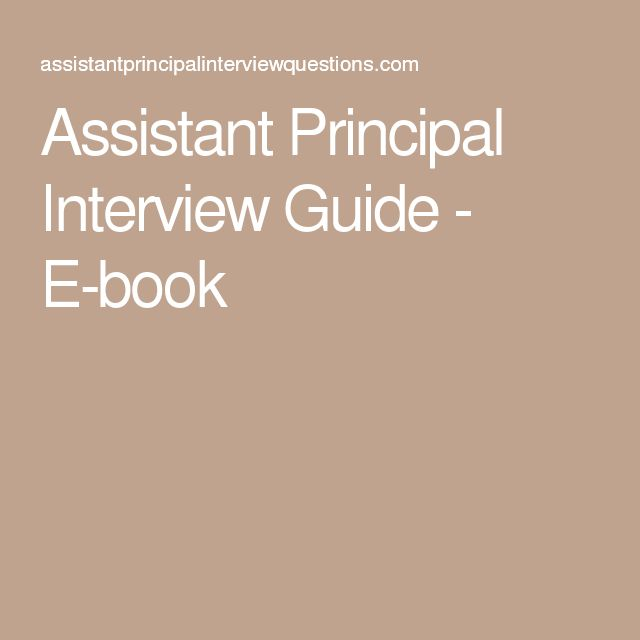 Best 25+ Interview guide ideas on Pinterest Interview questions - assistant principal interview questions