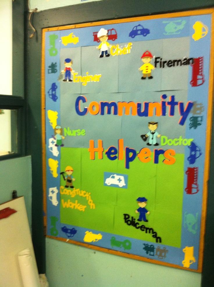 Pre Nursery Classroom Decoration ~ Community helper board ece ideas craft