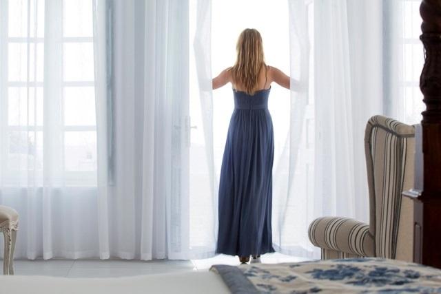 Open the Window in Luxury ... Couldn't happen elsewhere than in ... La Maltese Estate Santorini .