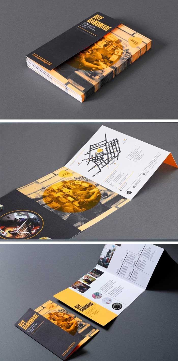 this beautifully designed gate fold brochure activates the