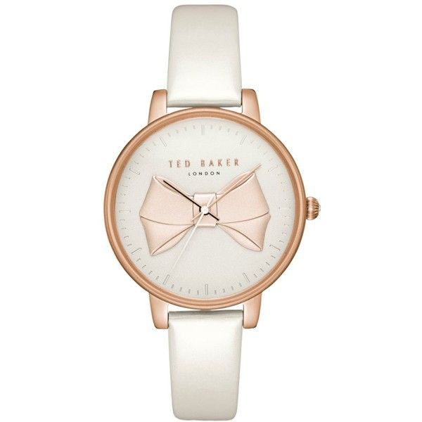 Women's Ted Baker London Brook Leather Strap Watch, 36Mm (9.270 RUB) ❤ liked on Polyvore featuring jewelry, watches, bow jewelry, leather strap watches, ted baker, ted baker watches and ted baker jewellery