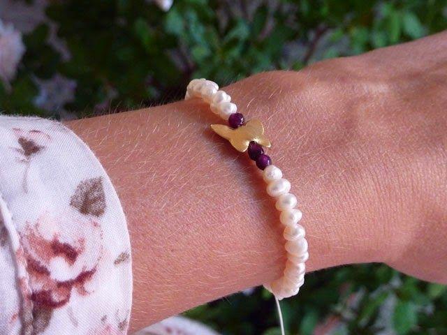 handmade with love _ pearls bracelet