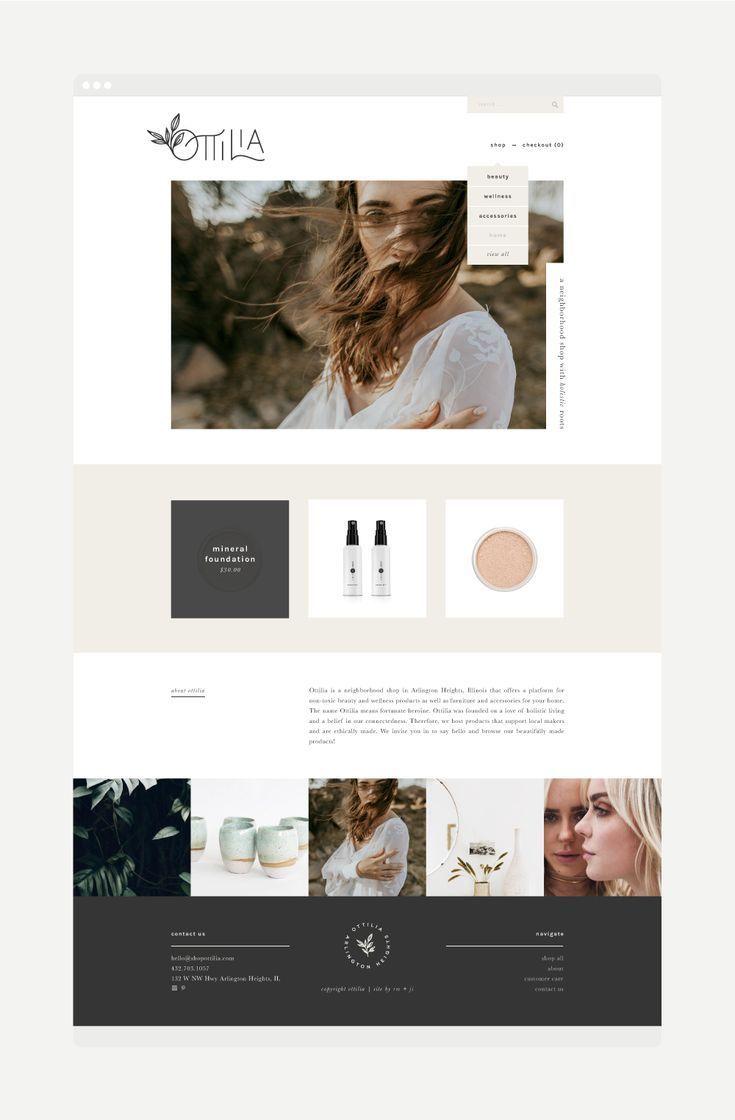 Feminine Website And Branding Beautiful Magazine Style Layout Love The Modern Minimalist L In 2020 Modern Website Design Feminine Website Design Website Design Layout