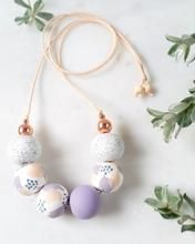 Mummy's Pretties - Blush & Purple BOBBI Necklace. Hand crafted from polymer clay. Made in Tasmania