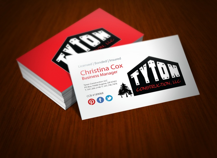 Business Cards For Home Building Company By Girl In Paris Design. #business  #cards
