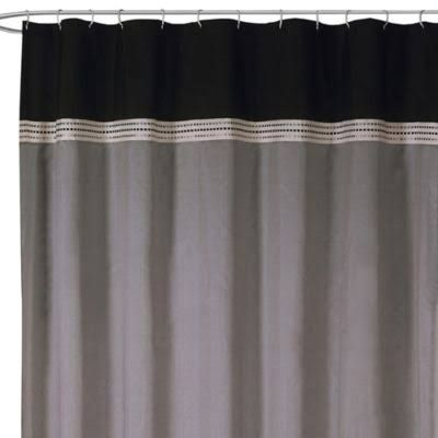 black and gray shower curtain - Google Search
