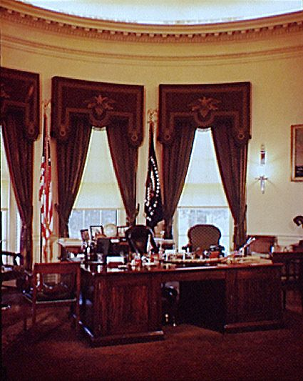 During Franklin Roosevelt's Presidency, the office was moved to the southeast corner of the West Wing in 1934, and this is what the modern office looked like:      Franklin D. Roosevelt's Office in 1936 (Wikipedia)