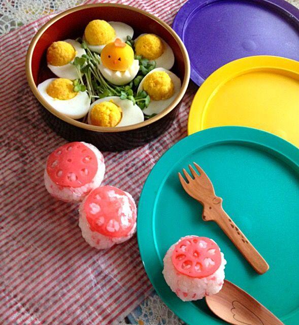 Yukiko 1008's dish photo ゆで卵じゃあないの 味付け卵 | http://snapdish.co #SnapDish #レシピ #お花見弁当グランプリ2015 #お弁当 #お花見 #お寿司 #味付き卵