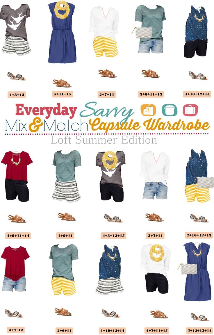 Here is a new summer capsule wardrobe with all with items from Loft. This capsule includes a dress and fun shorts that can be dressed up or down. You will be ready for almost any summer activity with this summer capsule wardrobe. It is perfect for traveling as well.