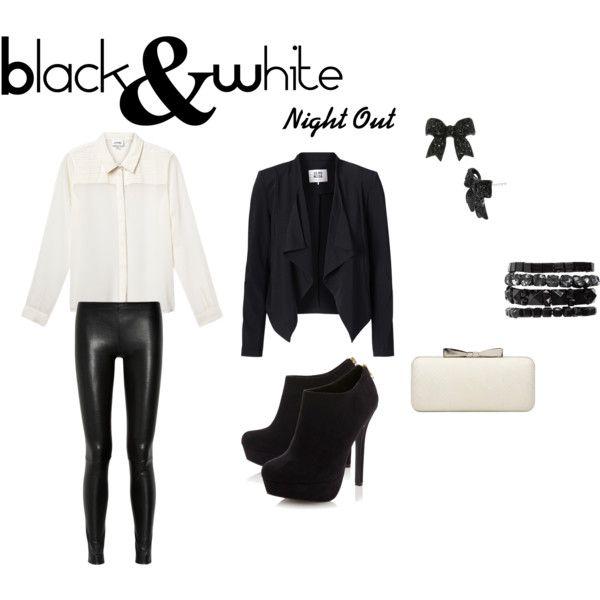 """Black&White"" by vas0an on Polyvore"