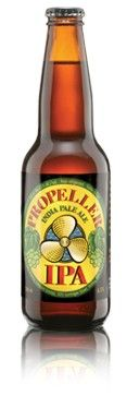 Propeller's IPA (India Pale Ale). Not for the faint of heart. True India Pale Ales had to withstand long sea voyages before quenching the thirst of cranky British troops stationed in India. Propeller's IPA is true to this style, it's bracing, bitter & higher in alcohol (6.5%alc./vol) & made with the trademark Propeller quality. It's full-bodied ale for full throttle beer lovers!
