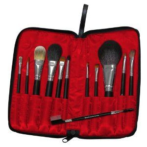 SILK 12 PC. TRAVEL SET by Royal & Langnickel. $99.99. Makeup Brush Set. A terrific selection of professional grade brushes in a handy zippered case that is easy to carry along. This set includes: Powder Brush Blush Brush Foundation Concealer MD Eye Shader Smudger Pointed Liner Flat Eyeliner Ange Eyebrow Angle Eye Fluff Lip Brush Double-ended Angle Brow/Lash Brush.