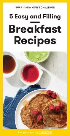 Starting your day off with a healthy and filling breakfast is one the best ways to guarantee you'll make better choices throughout the day. During our New Year's challenge, you'll be starting your mornings with easy recipes for eggs, smoothies, pancakes, and more.
