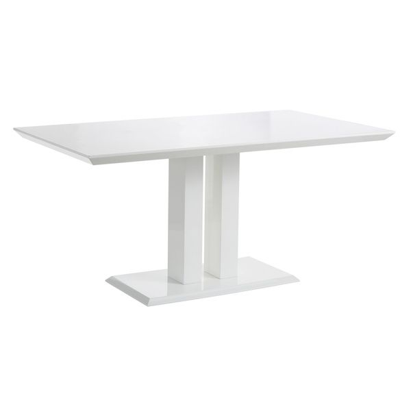 Scandinavian Lifestyle Malin White High Gloss Dining Table