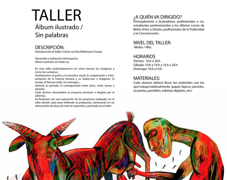 Ajubel workshop en Avilés http://www.educaniemeyer.org/p682480-ajubel-workshops-album-ilustrado-sin-palabras.html