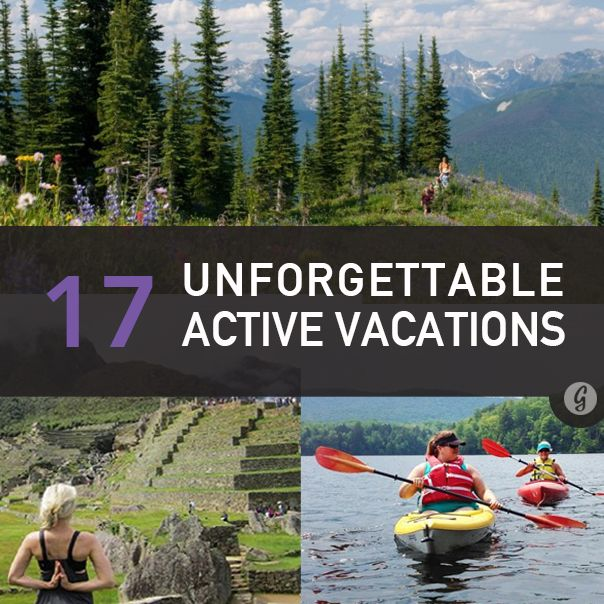 The Most Amazing Active Vacations. Reminds me of Wyoming, Montana, Idaho! One of my favorite vacations ever! Loved the white water rafting in Wyoming!