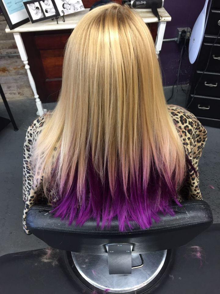 Purple Peekaboo Hair Hair Pinterest Purple Peekaboo
