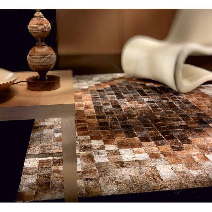 Ковер коричневых оттенков из шкур Avenue Black-White #carpet #carpets #rugs #rug #interior #designer #ковер #ковры #коврыизшкур #шкуры #дизайн #marqis