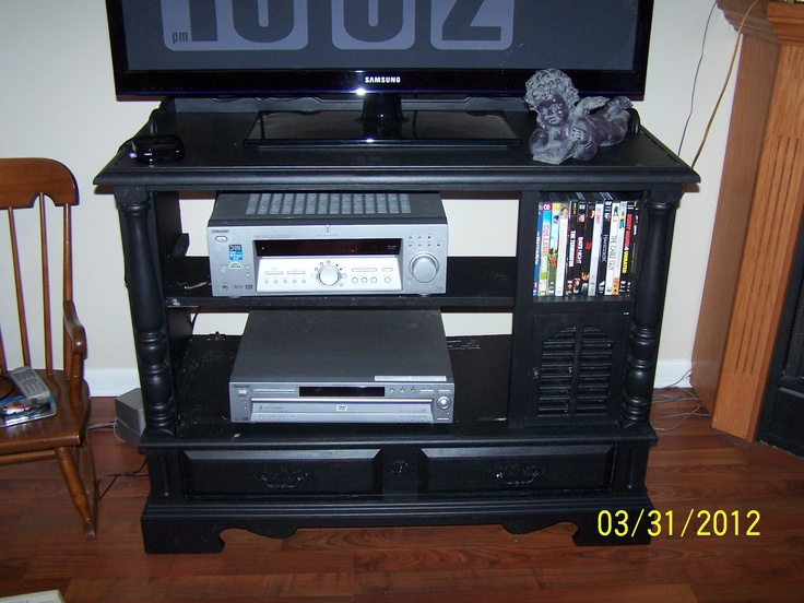 Made from old console tv.