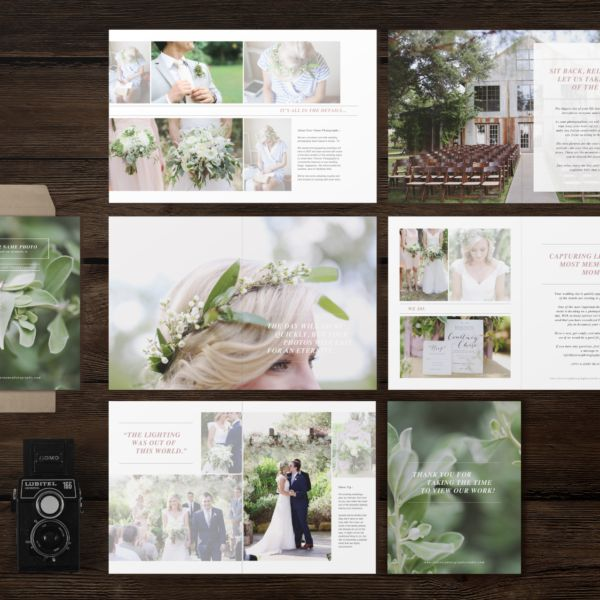 Studio Welcome Packet Laurel Wedding Photography Marketing Magazine Template